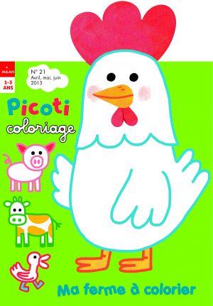 Picoti coloriage numéro 21 - ma ferme à colorier
