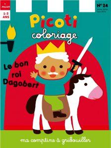 Le bon Roi Dagobert dans Picoti coloriage !