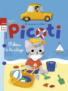 Couverture Picoti juillet 2013 - Pikou à la plage
