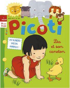 Couverture Picoti Aout 2013 - numéro spécial animaux