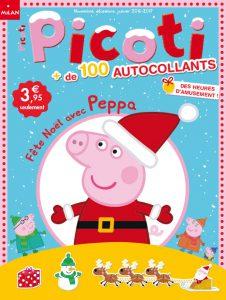 Couverture Picoti Autocollants : Fête Noël avec Peppa !
