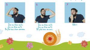 Oh l'escargot, une comptine en langue des signes avec Rémi