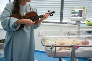 Virginie Basset musique à l'hôpital @S. Boutry